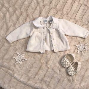 Ralph Lauren baby sweater with collar detailing